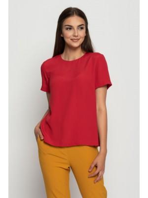 Блузка базовая красная Bialcon