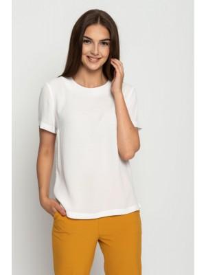 Блузка базовая белая Bialcon