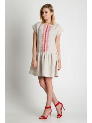 Платье Bialcon лен фольклор
