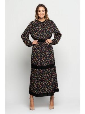 Платье макси либерти на темном Bialcon