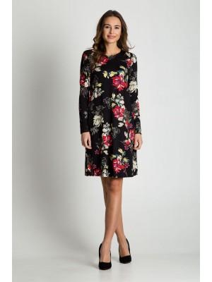 Платье цветы легкий А-силуэт