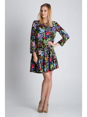 Платье цветное с оборкой Bialcon (Польша)